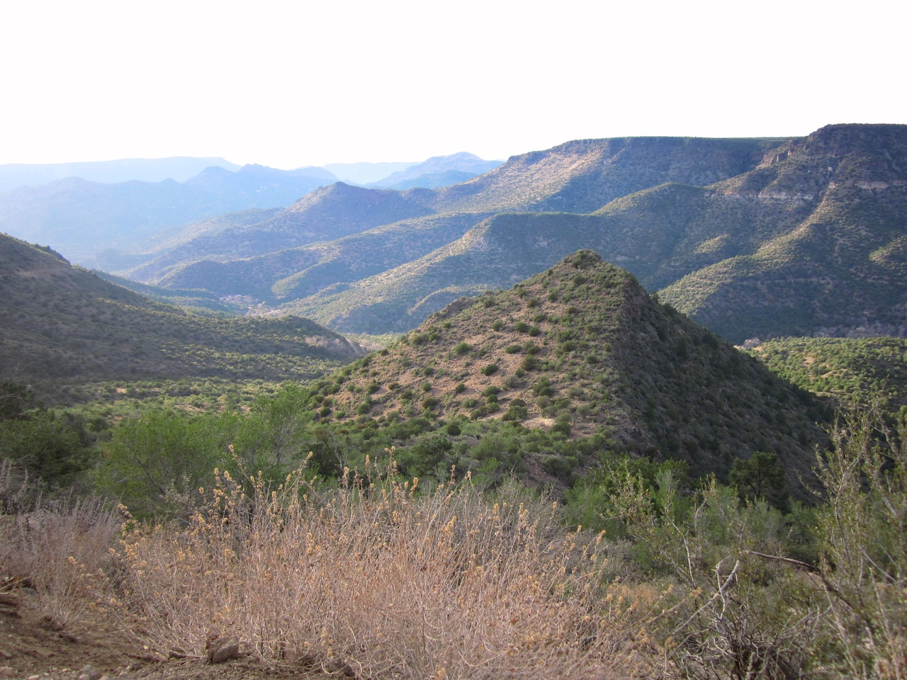 The road up Fossil Creek Canyon is beautiful, and ends at the town of Strawberry.