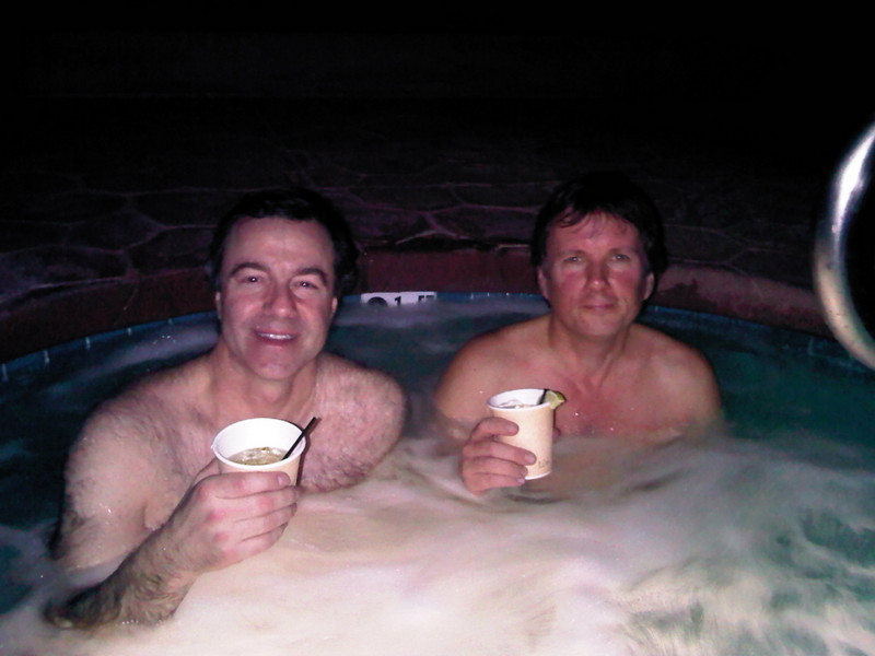 Ahhh... nothing like Margaritas in the hot tub after a vigorous day's riding.