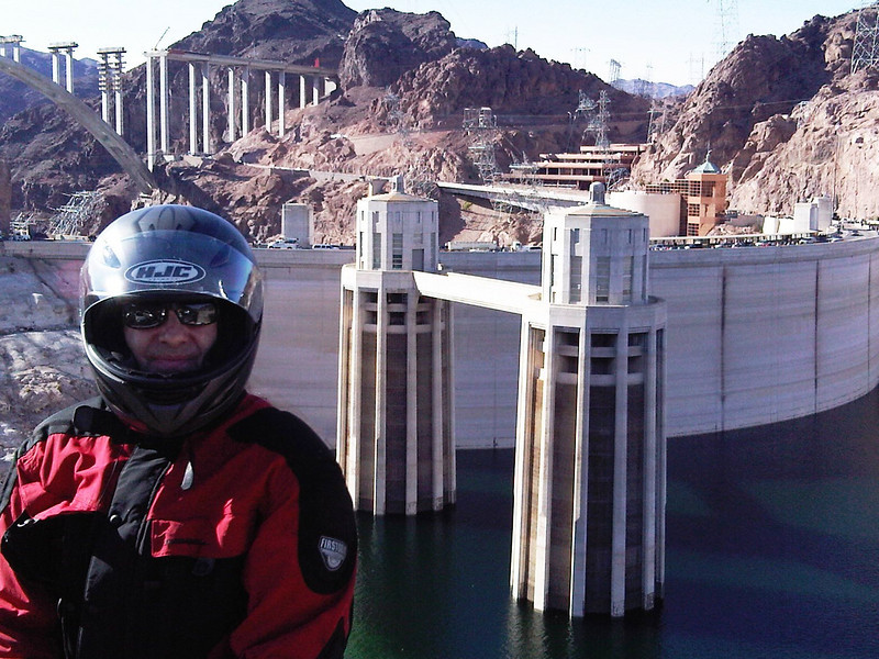 Eric in front of the Hoover Dam.
