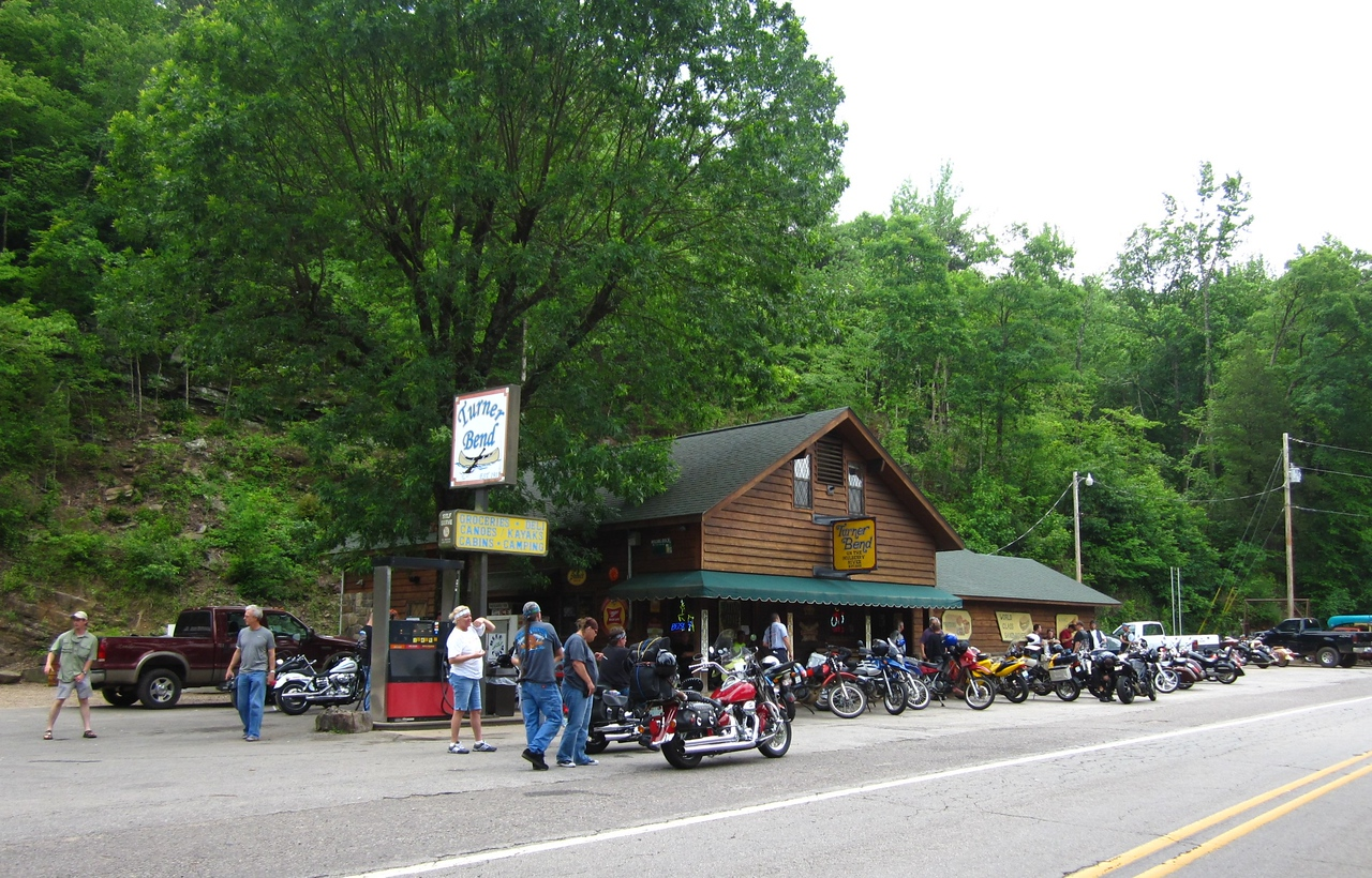 A popular stop near the Pig Trail, the Arkansas version of the Tail of The Dragon.