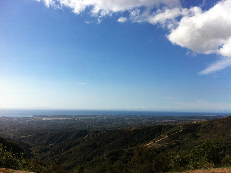 Looking out over Santa Barbar from San Marcos Pass
