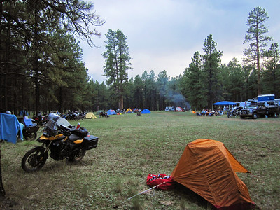 First night's camp.