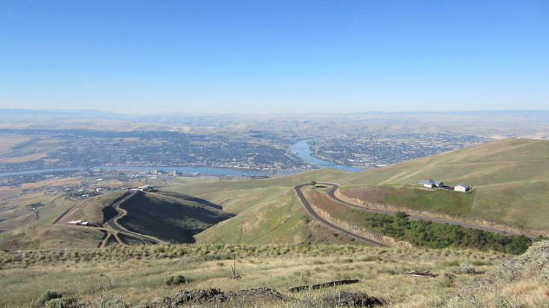 This is the Old Spiral Highway which descends down to Lewiston which sits on the confluence of the Clearwater and Snake Rivers.