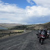We finally start to see some clear sky as we approach Grand Coulee Dam on WA155.