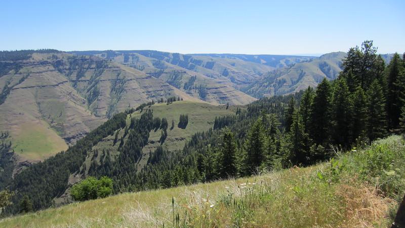 Joseph Canyon looking southwest.