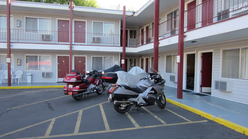 Our first night out is spent at  a motel in the University town of Pullman Washington.