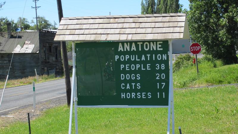 Anatone, WA, a small town with a sense of humour.