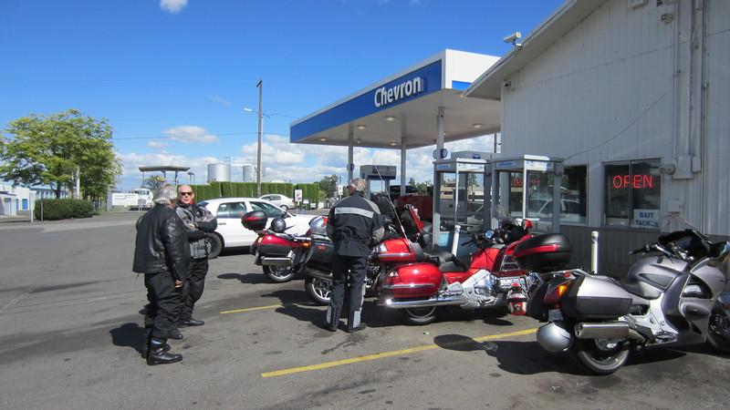 David, Bernie and Bill.  Fuel Stop.