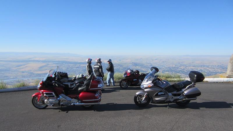 Bernie, Bill and David enjoying the view.
