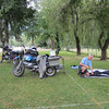 Arrived in Kaslo and set up camp in the municipal campground.  Doug arrived shortly after.