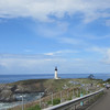 Leaving Yaquina Head Lighthouse with David in the rear.