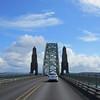 Crossing Newport Bridge.