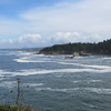 The skies clear on day three for a lovely ride down the Oregon Coast.  Boiler Bay.