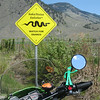 Gumby hates snakes!  <br /> Near Cawston BC.