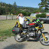 Adrian is riding a 1991 R100GS BMW.