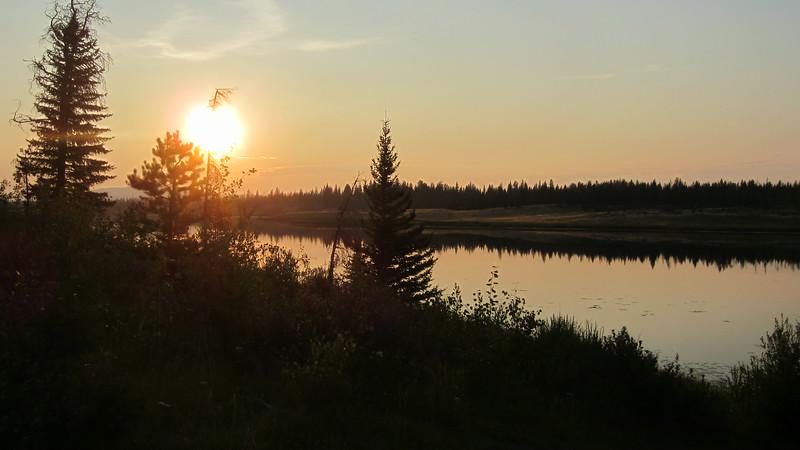 Sun going down over Little Big Bar Lake.