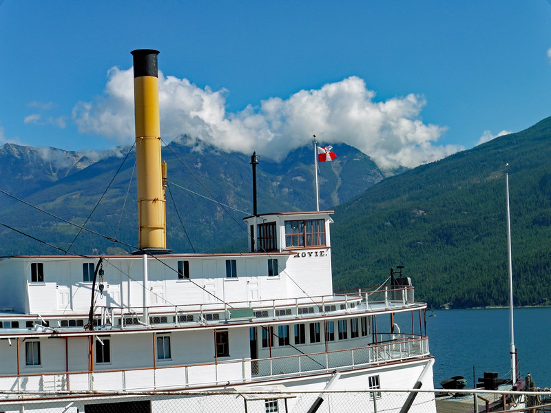 The paddlewheeler SS Moyie is on display on the Kaslo waterfront.