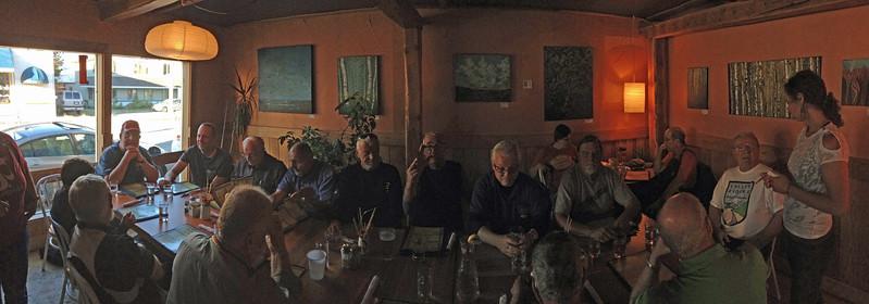 CW from front left - Peter, Kelvin, Deb, Jim, Russel, Herman, Sandy, Nik, Mark, Don, Steve, Gary, ___ and Doug.