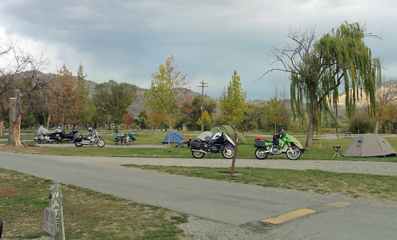 Veteran's Memorial Park in Oroville , WA is the site of the VBMWR's Last Chance Campout for 2015.