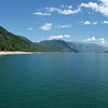 A perfect day, looking north on Upper Arrow Lake at the Needles-Fauquier Ferry.