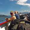 Doug and Wayne enjoying the sun on the Ferry  (Photo by John G.) ( I really need to get him to correct the date on his camera. )