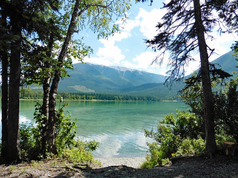 The Provincial Park is in a beautiful location.  There are several small campgrounds but we made our way around to the north side of the lake to the Home Basin Campground and found several open campsites.  We chose a nice lake side spot and called it an early day.