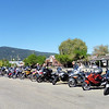 A nice line-up of bikes graced the downtown of Armstrong.