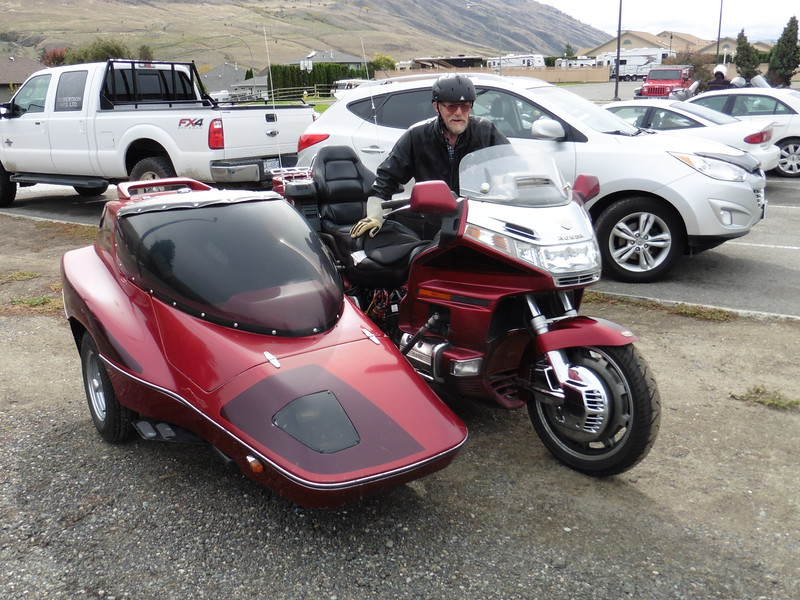 That is one big sidecar.  (And once again, I'm embarrassed that I don't remember the gentleman's name.  Help!)
