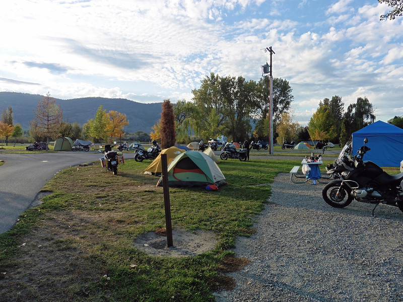 The Oroville Last Chance Camp Out is usually a very popular one.  Veteran's Memorial Park in Oroville is a nice campground and it is usually pretty quiet on the first weekend of October.  We usually reserve some sites with power and water near the facilities for the club.