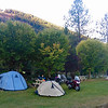 The Midway Camp 'n' Ride was held at the Riverfront Park on the beautiful Kettle River in Midway, BC.   I arrived in Midway on Thursday afternoon and after riding in the rain from Kelowna managed to get my tent set up in a central location. It wasn't too crowded on Friday morning but the sun was kissing the mountain tops early.