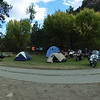 The campground is starting to look a bit fuller on Friday afternoon.