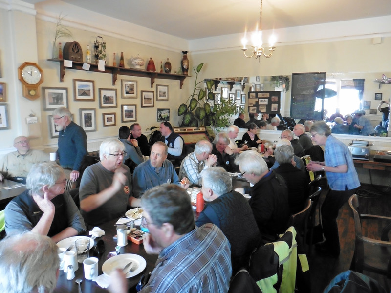 We had 39 members on hand for the 2017 edition of the Armstrong Breakfast Ride.  We met at the Blue Cafe which is located in the historic Armstrong Hotel.