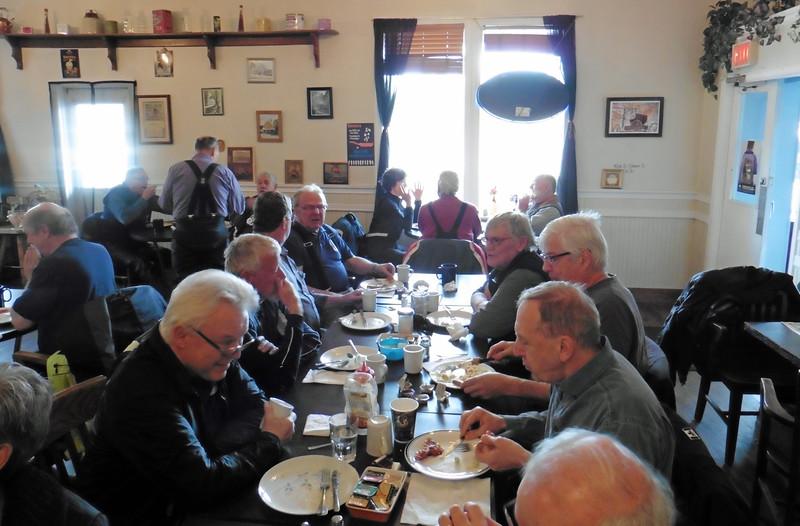 A buffet breakfast was no the menu.  CW  - Don, Nik, Ron, Gary Paul, Brian, ____, and Wayne.