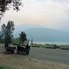 Saturday morning dawned with more smoke over Kootenay Lake.