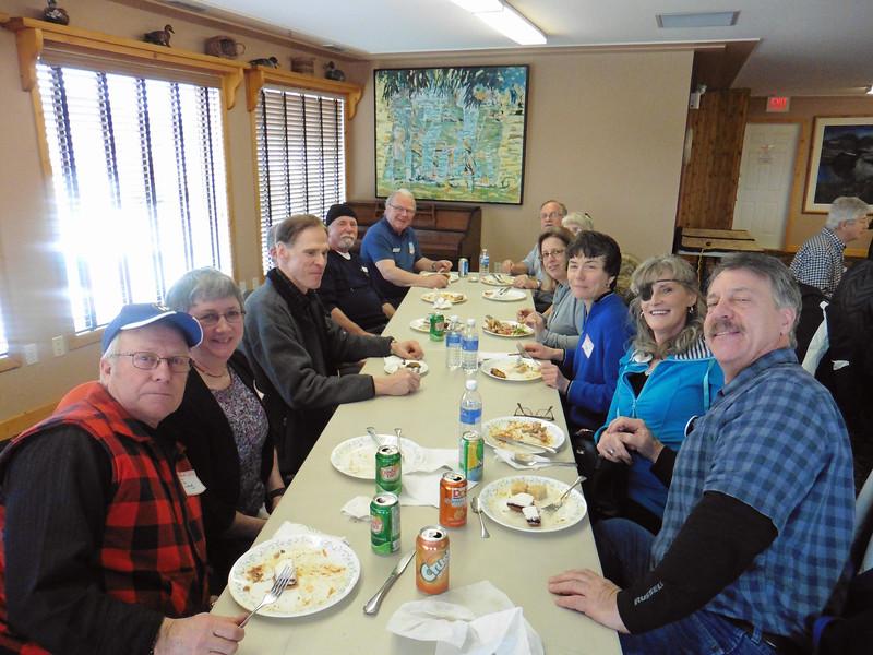 CW from left:  Doug, Shirley, Hans, Fred, Michael, Gary, Dan, Lori, Carrie, Siggi, Diane & John.
