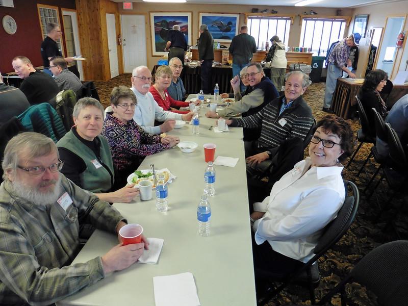 CW from left:  Loyd, Maureen, Diane, Bernie,  Susan, Bill, Eileen, Gord, Hu & Rita.