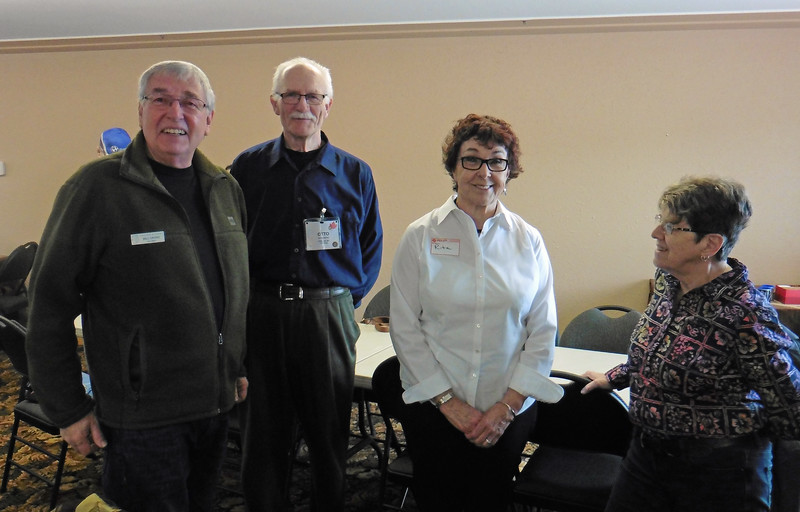The VBMWR's Winter Break-Out is an opportunity to break out of the winter doldrums and get together with fellow members to talk bikes.  We held this year's event at Holiday Park in Winfield.  <br /> L-R: Biill, Otto, Rita and Diane.