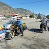 We turned onto Green Mountain Rd in Penticton then stopped in Keromeos for an early lunch and fuel.  Adrian was on his R100GS, I on my R1150GS and John on the R1200GSA.