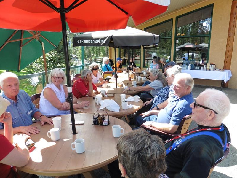 CW from left:  Judy, Mark, Maurie, Nik, Estelle, Alf, Doug, John, Shirley, Diane, Gerry, Tom, Ester, Pam, Gary, Bernie and Diane.