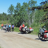 We followed Brookmere road up the hill until it joined Otter Lake Rd.  We turned north and stopped on Voght Valley Road for a break.  L-R: Judy, Ron, John, Don, Stacey and Brian.