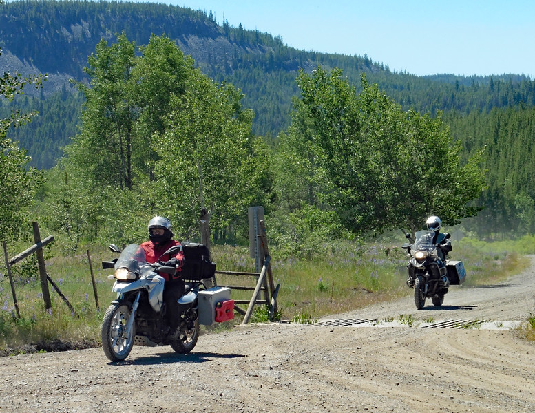 Stacey on her F650GS and John on his R1200GSA bring up the rear.