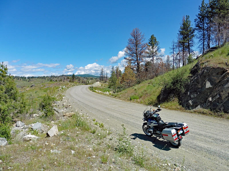 June 2nd - I rode to Oroville to pick up some parts and took the long way home.  Gumby II on Nine Mile Rd above Oroville.