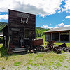The Molson Gold Mine Assay Office was moved to the historic site.  Lots of great old machinery is gathered here.