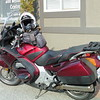 Brian had to leave very early from Salmon Arm in the cold to get there on his ST1300.