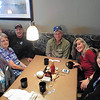 About half of the folks came by car due to the cold morning, or due to insurance running out.  L-R: Shirley, Kathi, John, Doug, Diane and Joanne