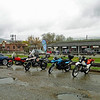Someone counted 18 bikes that braved the wet conditions.  Of course a couple of people had to sneak in their four-wheeled BMW's.