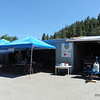Adrian's shop formed the back drop.  We set up the club shelters to provide some much needed shade with predicted temperatures of close to 30 C.