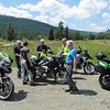 A small group, Bill, Siggi, Terry, Hans, David and I rode home via Campbell Creek Rd and Barnhartvale Rd.  A rest stop at Hwy 97A.  Shortly after we left the pavement again and explored Paxton Valley Rd en route to Falkland.