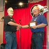 Newly elected President, Wayne Corley presenting an appreciation Plaque to our outgoing President Gary Smith.