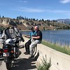 Gary had some issues with the old RT on the way home.  Terry & Estelle waited with him for a tow truck alongside Okanagan Lake.